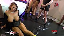 Sexy MILF with Huge Tits lost in a sea of Cocks - German Goo Girls