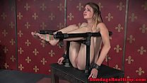 BDSM sub canned while bound by maledom video
