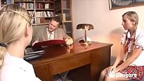Two Young School Girls Banged By Their Professor - Morgan Moon