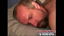 Hairy mature dude wanks off his dick until a happy climax