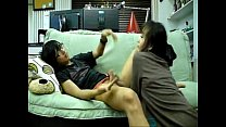 5458 Asian Homemade - Newly married couple having fuck in sofa preview