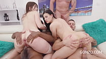 Susan Ayn & Billy Star Are Anal Creampie Sisters in Gangbang