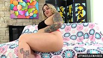 Busty Blond BBW Kendra Lee Ryan Has Her Furry Pussy Plowed After Masturbating