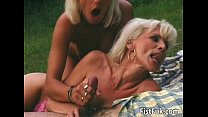 Busty blond whore gets her pierced pussy