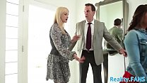 Teen babe banged by an older couple preview image