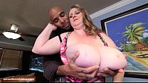 BBW Legend Sapphire 38L Fucks Big Black Cock on Table thumbnail