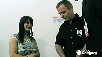 Kristi Love Has Her Perfect Natural Tits Jizzed On By Two Old Cops