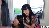 Cindy Starfall and Marica Hase enjoy in a 3some... />