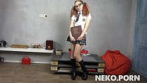 Sexy ginger teen Lilien - Sexy Naughty Schoolgirl Uniform