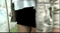 brunette teen outdoor casting preview image