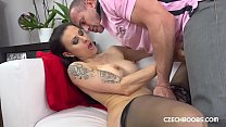 Woman pleases her man with new lingerie