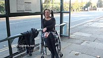 Paraprincess outdoor exhibitionism and flashing wheelchair bound babe showing [노출증 exhibitionism]
