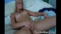 Naughty Blonde Leanna Leigh Spreads  Her Tight Pussy