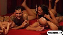 Swingers swap partners and massive orgy in the ... thumb