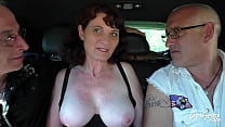 Nathalie, fucked in threesome with her husband outdoors