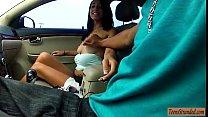 Sweet latina flashes her tits and rammed by nas... thumb