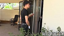 Twink pizza delivery boy gets a fat tip up his ...