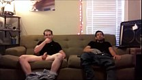 These two dudes owed me, so I secretly filmed them jerking off. They have no idea