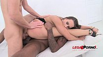 Mea Melone hot euro slut 3 on 1 double penetrat...