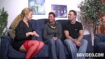 German couple fucking with a milf in threesome
