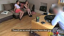 FakeAgentUK Two girls happy to fuck him for a porn job lezzing up and anal Vorschaubild