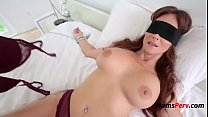 Blindfolded Mommy Thinks It's Her Hubby porn thumbnail
