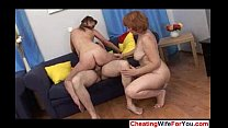 Mature and young Russian threesome 3 image