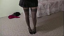 Teen in stockings fucked until she cums- vxsexcams.com