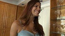 REDHEAD DOLL INVITES BOYFRIEND ON KITCHEN FOR H...