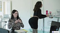 Anal at the Office - Abella Danger and Angela White