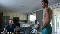 Muscular Carter Woods Catches Roommate Jackson