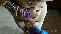 Blue saree daughter blackmailed forced to strip...