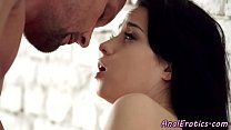 Foreplay loving babe banged in tight ass