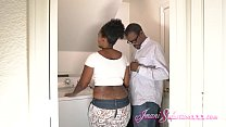 Young Big Booty Eby Imani Fucks Her Man's Big Black Dick in the Laundry Room - 9Club.Top