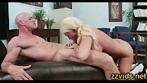 Incredible hot busty blonde fucked by big cock thumbnail