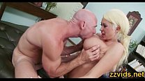 Incredible hot busty blonde fucked by big cock
