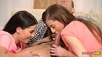 DADDY4K. Mom's two daughters getting naughty in...