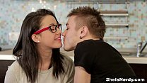 She Is Nerdy - Nerdy birdy Izi Ashley getting dirty teen porn
