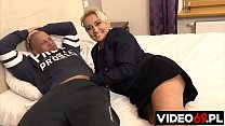 Polish porn - Older woman with saggy big tits sucks a big cock