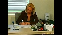Decent Blonde Wife With Glasses Cheats With Her...