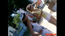 Downblouse Russian Stepmother with Not Her Stepdaughter  - abuserporn.com
