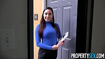 PropertySex - Curvy real estate agent fucking her new client thumbnail