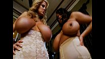 Brandy Talore and Kelly Madison Fuck In Boob Lovers Paradise