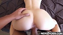 Fresh petite cutie gets fucked by some big cock in POV
