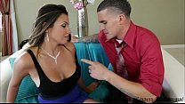 Sexy brunette Danica Dillon shows her huge tits... Thumbnail