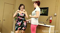 Horny Seamstress Licks Up Sara Jay Preview