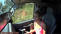 Busty teen gets picked up