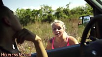 Busty teen gets picked up - 69VClub.Com