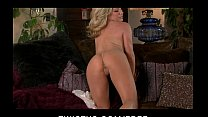 Bd nude girl ⁃ hot busty blonde in lingerie teases her pink pussy for the camera thumbnail