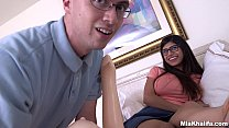 big dick surprise & Mia khalifa popped a fans cherry and it was awkward af! (mk13819) thumbnail